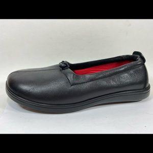 SAS Funk Black Leather Loafers Sz 8.5 Wide